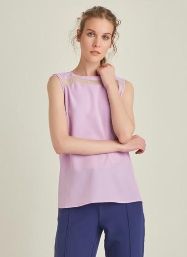 Ng Style Organze Detaylı Bluz Lila